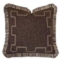 Broward Border Decorative Pillow in Cocoa
