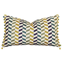 Claire Ball Trim Decorative Pillow