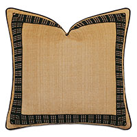Lars Embroidered Border Decorative Pillow