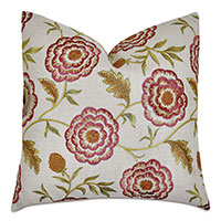 Marguerite Embroidered Decorative Pillow