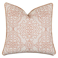 Marguerite Damask Embroidery Decorative Pillow
