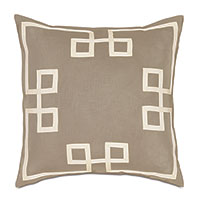 Resort Bisque Fret Accent Pillow