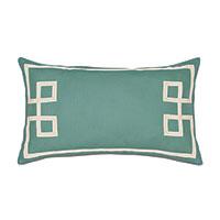Resort Aqua Fret Accent Pillow