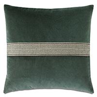 Echo Trim Applique Decorative Pillow