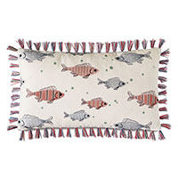 Minnow Brush Fringe Decorative Pillow