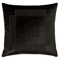 Antiquity Greek Key Decorative Pillow in Ebony