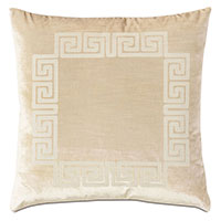 Antiquity Greek Key Decorative Pillow in Cream