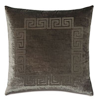 Antiquity Greek Key Decorative Pillow in Oregano