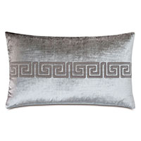 Antiquity Greek Key Decorative Pillow in Dove