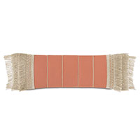 Siesta Fringe Decorative Pillow  in Papaya