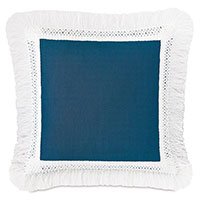 Palermo Fringe Decorative Pillow in Lagoon