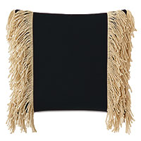 Palermo Fringe Decorative Pillow in Black
