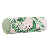 Abaca Banana Leaf Bolster in Flamingo
