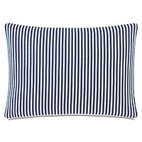 Villa Reversible Decorative Pillow in Navy