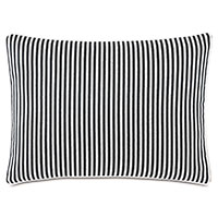 Villa Reversible Decorative Pillow in Black
