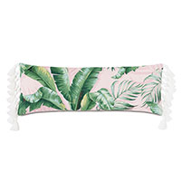 Abaca Tassel Decorative Pillow in Flamingo
