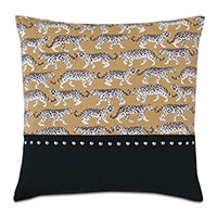 Prowling Nailhead Decorative Pillow