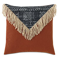 Seydou Color Block Decorative Pillow in Black