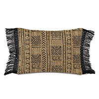 Seydou Fringe Decorative Pillow in Natural