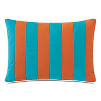 Plage Striped Decorative Pillow in Orange