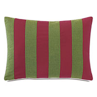 Plage Striped Decorative Pillow in Moss