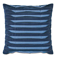 Plisse Pleated Decorative PIllow in Indigo
