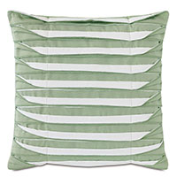 Plisse Pleated Decorative PIllow in Celadon