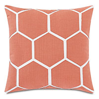 Tamaya Hexagon Decorative Pillow in Carnation