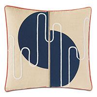 Belleair Zipper Decorative Pillow in Navy