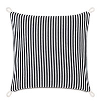 Villa Cord Knot Decorative Pillow in Black