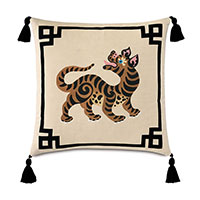 Guster Tassel Decorative Pillow (Right)