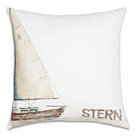 Stern Handpainted Decorative Pillow