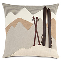 Lodge Mountains Decorative Pillow
