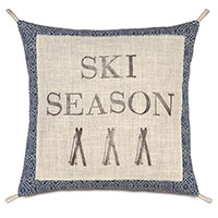 Lodge Blockprinted Decorative Pillow