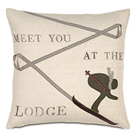 Lodge Burlap Decorative Pillow