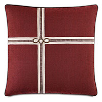 Kilbourn Houndstooth Ribbon Decorative Pillow