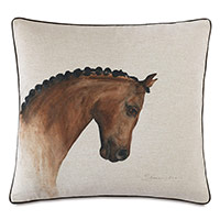 Azra Handpainted Decorative Pillow in Physique