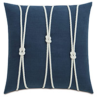 Isle Yacht Knots Decorative Pillow in Indigo