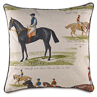 Chantilly Derby Decorative Pillow