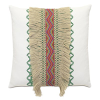 Rainbow Fringe Decorative Pillow
