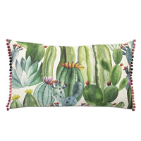 Cactus Pom Pom Decorative Pillow