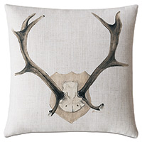 Lodge Handpainted Decorative Pillow