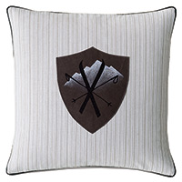 Lodge Leather Badge Decorative Pillow