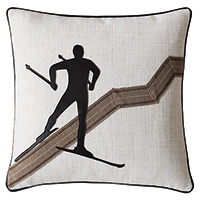 Downhill Skiing Decorative Pillow