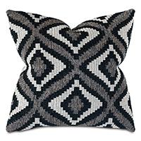 Monterosa Woven Decorative Pillow in Black