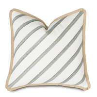 Brentwood Diagonal Trim Decorative Pillow