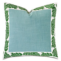 St Barths Mitered Border Decorative Pillow