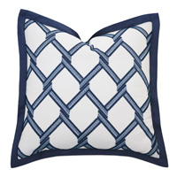 Newport Embroidered Euro Sham In Blue