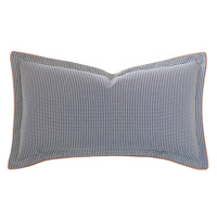 Ladue Houndstooth King Sham In Indigo