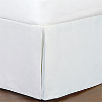 Breeze Pleated Bed Skirt in White